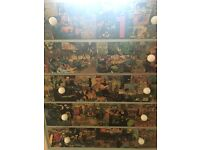 Marvel/DC covered chest of drawers
