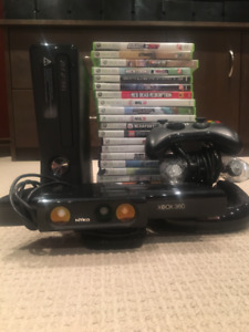Xbox 360, Kinect, 21 games, 3 Controllers - 140 OBO.