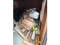 Shed full of free wood timber chipboard pine etc. Firewood