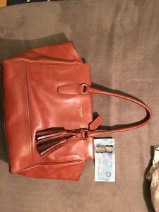 Authentic coach purse leather