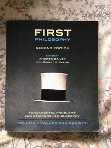 First Philosophy Second Edition Textbook