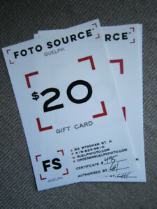 Gift cards - for quick sale!