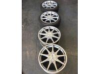 Fox 17 inch alloys tyres mini vw Vauxhall multifit
