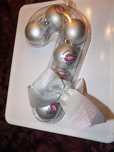 MONTREAL CANADIANS CHRISTMAS TREE BULBS: NEW SEALED