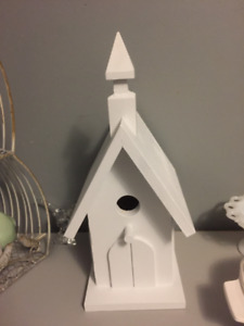 Handmade Church Shaped Birdhouse