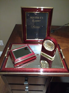 Matching Picture Frame, Clock, Tray and Jewelry Box Peterborough Peterborough Area image 1