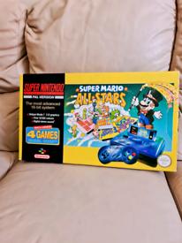 Boxed super Nintendo console snes