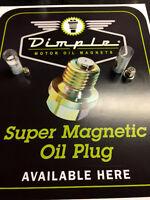 Dimple, magnetic drain plugs