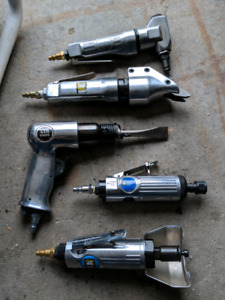 Set of 5 different air tools by powerfist