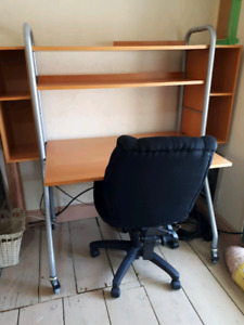 Clean and good Ikea desk and Staples chair