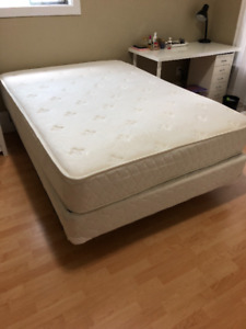 Double Bed - Frame, Box Spring and Mattress