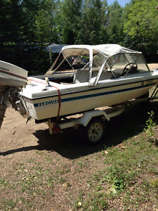 16 foot Vanguard boat with trailer