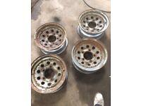 Land Rover steel wheels.