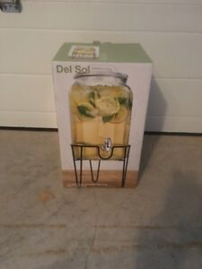 For Sale: Del Sol 1.5 Gallon Beverage Dispenser with Metal Stand