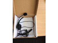 2 x Office Telephone headphones never used. £15
