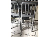 Set of 3 Hygiena Kitchen / Bar Stools Grey