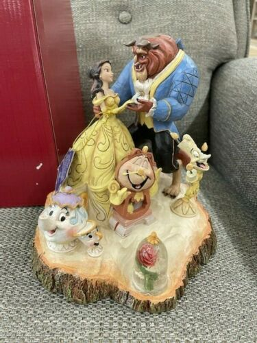 Disney Traditions TALE AS OLD AS TIME Beauty and the Beast Jim Shore Statue NIB!