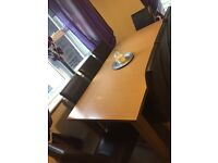 Extendable dining room table & chairs