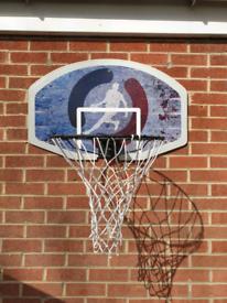 Wall mounted Basketball net & ball
