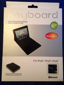 Brand new case with keyboard for iPad