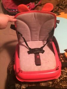Folding booster seat and high chair