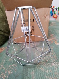 Vintage bird cage lamp shade