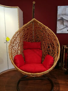 Outdoor / Indoor Patio Hanging Rattan Egg Chair