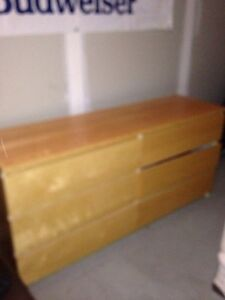 Bedroom furniture - long dresser -6 drawer and chest of drawers