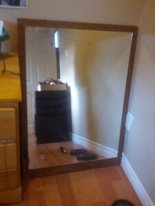 LARGE MIRROR attached to wood
