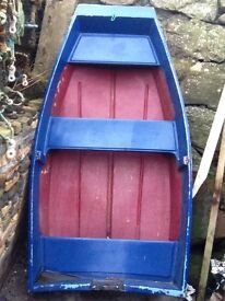 8ft Pram dingy ready to go fibreglass for fishing boat