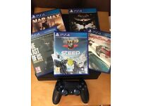 500GB PlayStation 4 + 5 games & controller