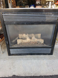 Used Gas Fireplace and Fire place Mantel