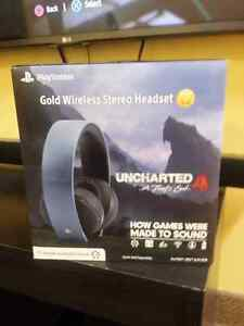 Brand New Uncharted 4 Playstation 4 Gold Wireless Headset $80.