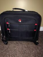 Swiss army lockable roller laptop bag case