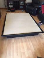 Queen size platform bed, brand new. 2 available