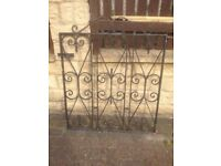 "Black heavy-duty iron,steel gate with original solid steel post,bargain at £45,H=34""&W=34 inches too"