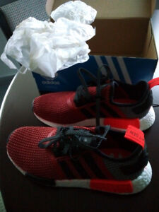 ADIDAS S79158 NMD R1 Black Red Sneakers Running Shoes NEW
