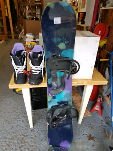 Great condition snowboard and Boots