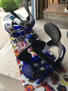 Burton snowboard, boots and bindings
