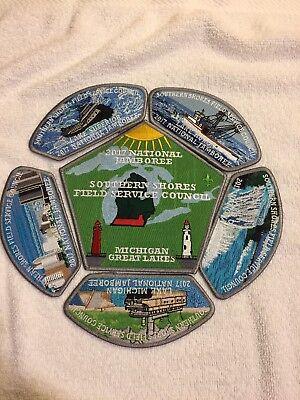 Mint 2017 National Jamboree 6 Piece JSP Set Southern Shores Field Services Gray