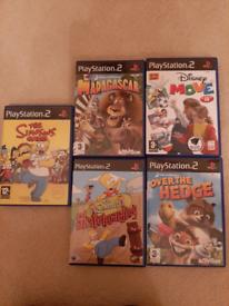 Various Playstation 2 games simpsons, Madagascar etc, £2 each c