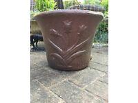 Large heavy garden planter plant pot