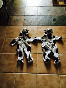 LIKE NEW! 2 cow 3-6 month cow costumes