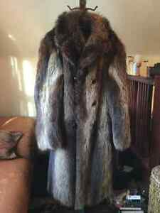 Vintage men's raccoon coat