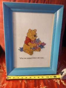 Cross-stitched Winnie the Pooh picture