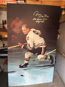 From the Hockey Hall of Fame Orr/Hull (signed)