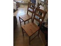 2x Ikea Jokkmokk dining chairs