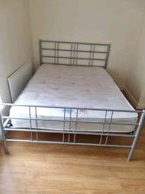16. 5 double bed frame and mattresses