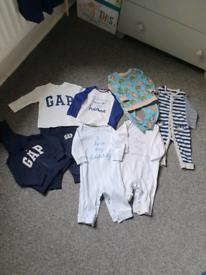 9-12 month unisex baby clothes bundle.