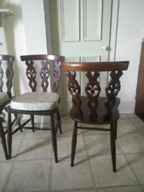 6 Dining Chairs Ercol Windsor Fleur de Lys Mid-Century Vintage Retro